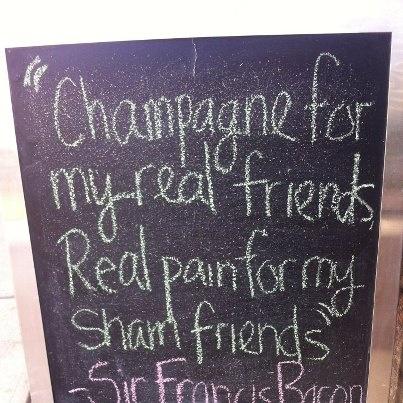 Champagne friendship signFriendship Signs, Champagne Friendship