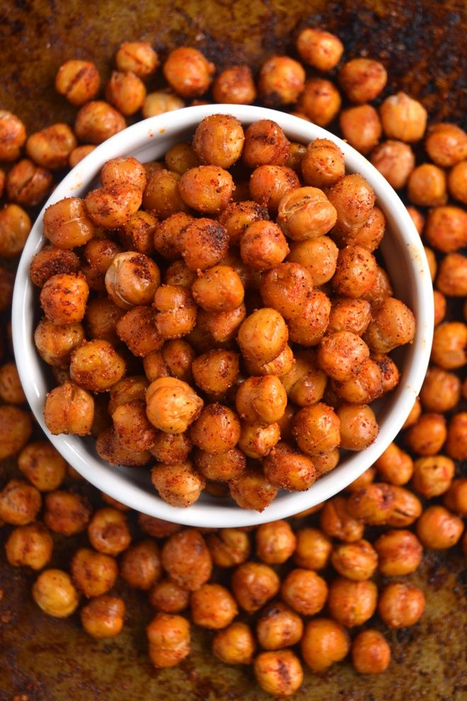 BBQ Roasted Chickpeas are a quick and delicious healthy snack or appetizer that …   – Vegetarian recipes easy