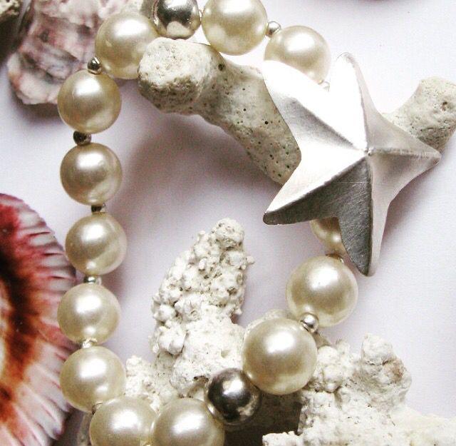 Pulsera estrella de mar #perlas