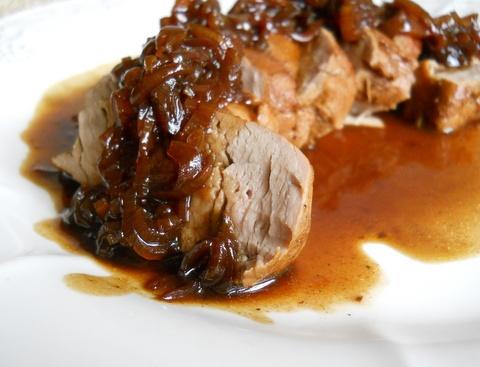 Pork Loin with Port Shallot Sauce