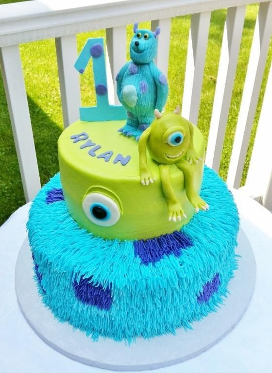 Super cute Monsters Inc. cake. Love!