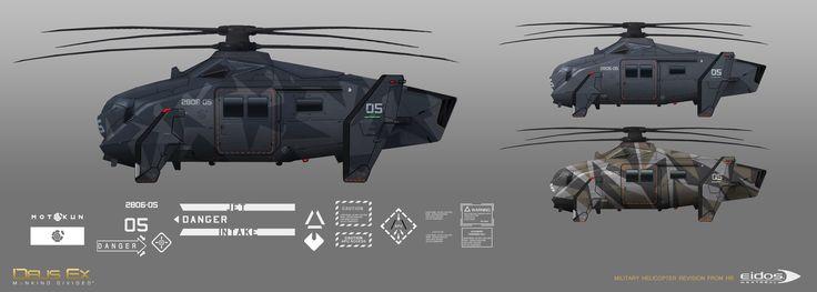 "Military Helicopter concepts (revision from HR* mil chopper), Martin Sabran ""MSab"" on ArtStation at https://www.artstation.com/artwork/JgLAa"