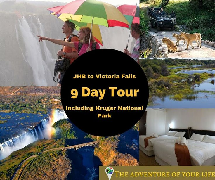 Enjoy a breathtaking 9 day tour in South Africa. This tour is from Johannesburg to Victoria falls, including Kruger National Park. Contact us on enquiries@africaadventuretravels.co.za #TourSouthAfrica #Tourist #WildLife