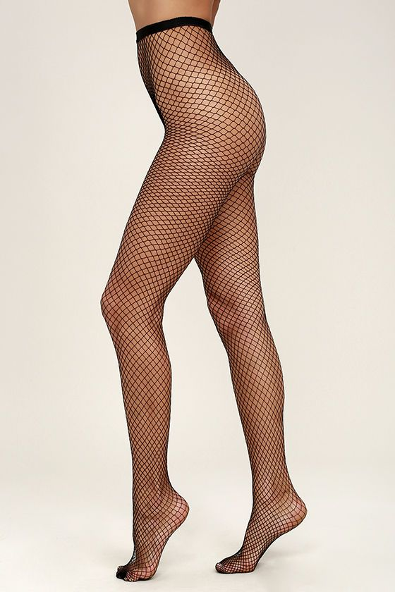 The Smoldering Black Fishnet Tights are on fire! These sexy black fishnets have a classic diamond pattern. One size fits most.