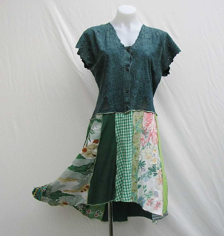 Upcycled Dress, refashioned dress, dropped waist dress, deconstructed dress, reconstructed, au 16 UK 14 US 12 dress, one of a kind dress by Rethreading on Etsy