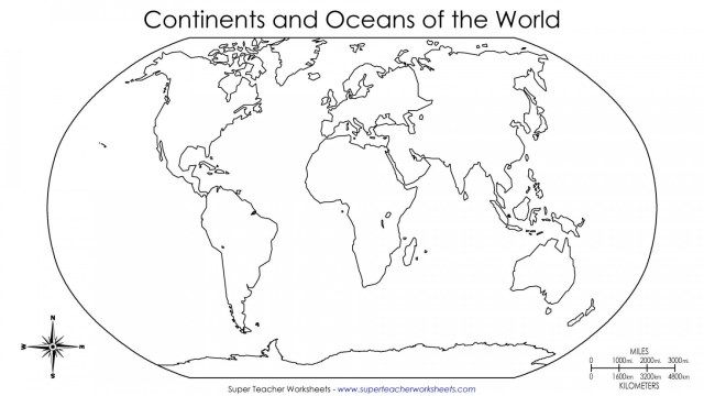 Great Image Of Continents Coloring Page World Map Continents
