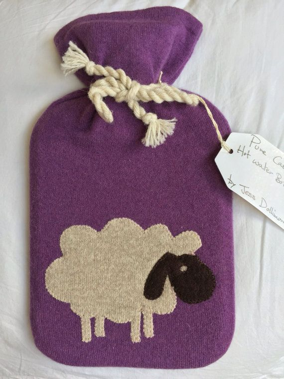 Pure Cashmere Hot Water Bottle Cover by WhatJesseDid on Etsy