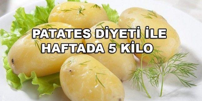 Patates Diyeti (1 Haftada 5 Kilo)