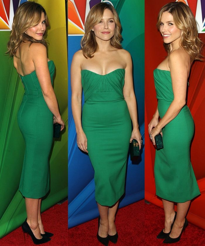 """Best Dressed: Sophia Bush in Dsquared² and Casadei """"Blade"""" Pumps"""