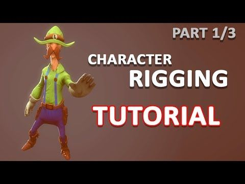 Autodesk Maya 2018 - Simple Character Rigging Part 1 of 3 - YouTube