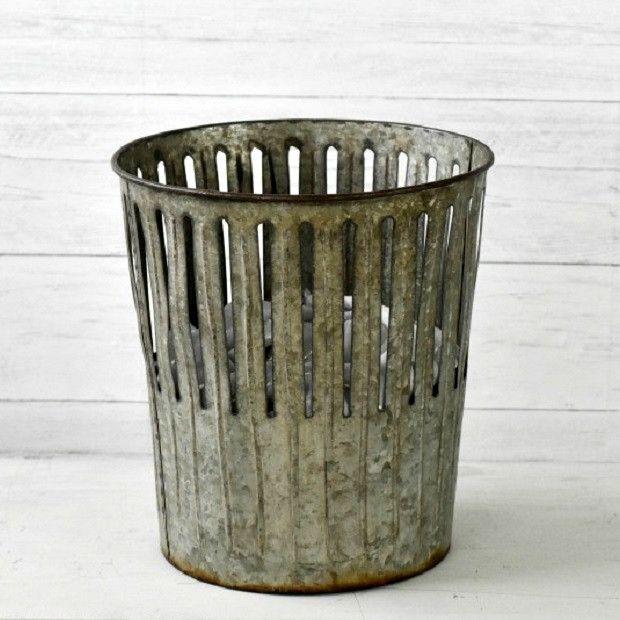 Galvanized Perforated Waste Basket