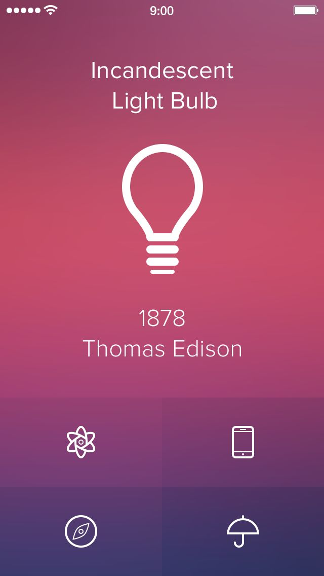 Invention of the Day [iOS7 Edition] by Alexander Zaytsev