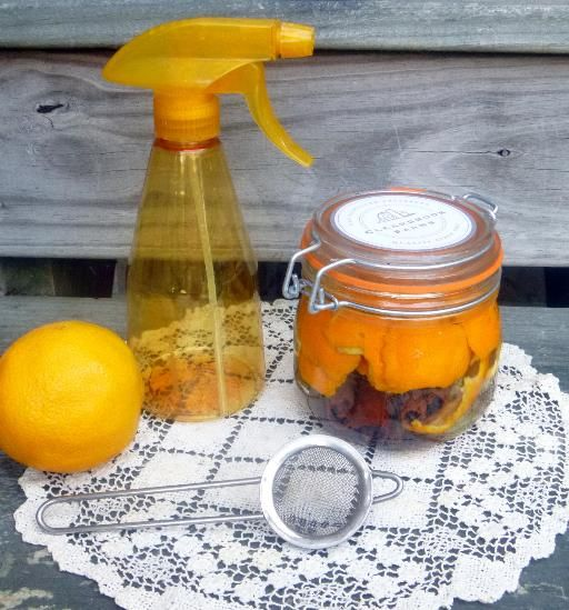 Using harsh chemicals around your chickens is never a good idea. Try this homemade, all natural cleaner instead with the antibacterial properties of vinegar and solvency of orange oil, as well as insect repelling properties of vanilla and cinnamon.