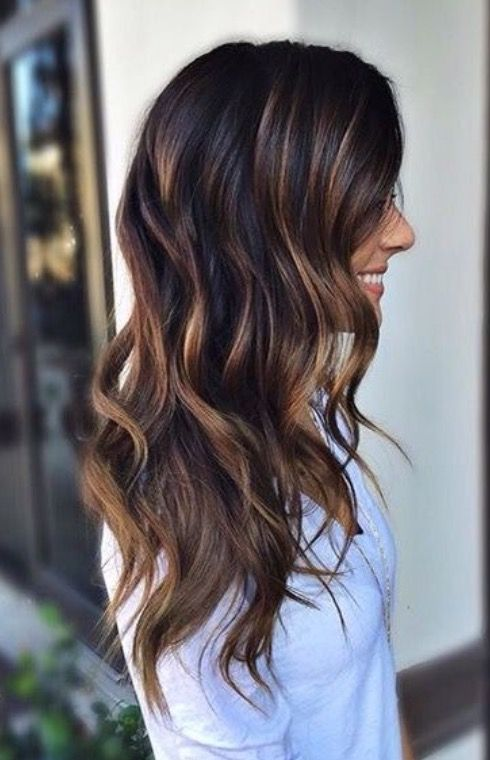 Dark brunette base with rooted hand painted bayalage http://shedonteversleep.tumblr.com/post/157435226303/more