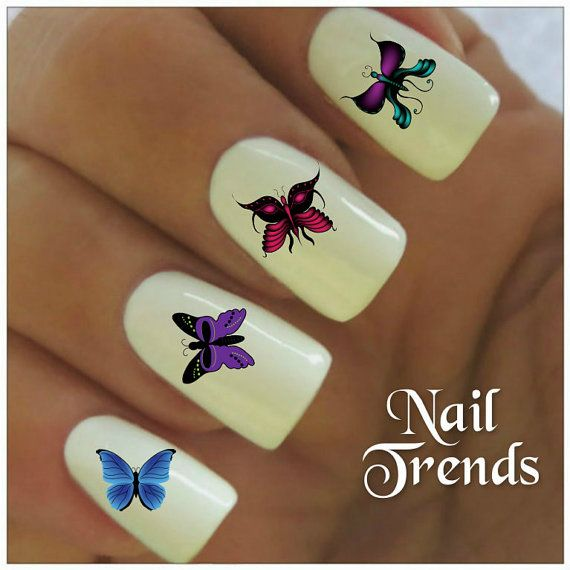 Butterfly Vinyl Nail Stickers