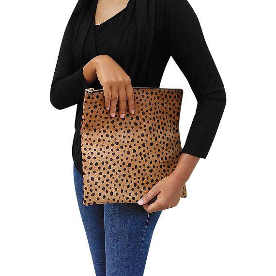Embrague de leopardo cuero leopardo veces más embrague