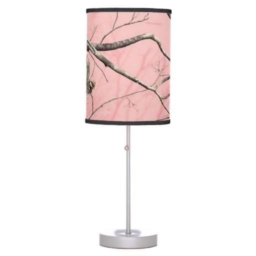 Pink Tree Camo Lamp