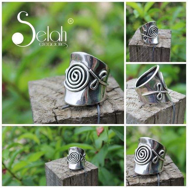 Anillo de plata, diseño circular, diseño exclusivo. Chile <3 Fan Page <3 Facebook <3 Twitter <3 Flickr <3 selah.creaciones@gmail.com