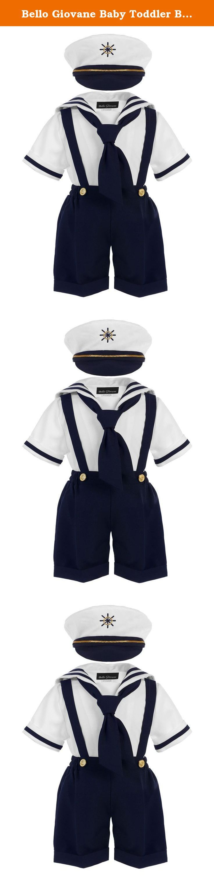 Bello Giovane Baby Toddler Boys Nautical Sailor Outfit Short 4 Piece Set (Small, Navy). Absolutely gorgeous! Your child will be the best of the day whether it is a picture day or simply attending a special event with this classy sailor short suit. This sailor short suit is the perfect choice for the day to be remembered.