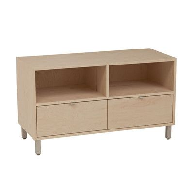 """Latitude Run Southville 42"""" TV Stand Wood Veneer: Painted Eco-MDF, Color: Turquoise"""
