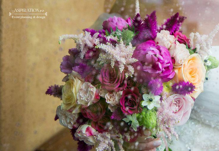 Buchet de mireasa roz intens Aspiration Events