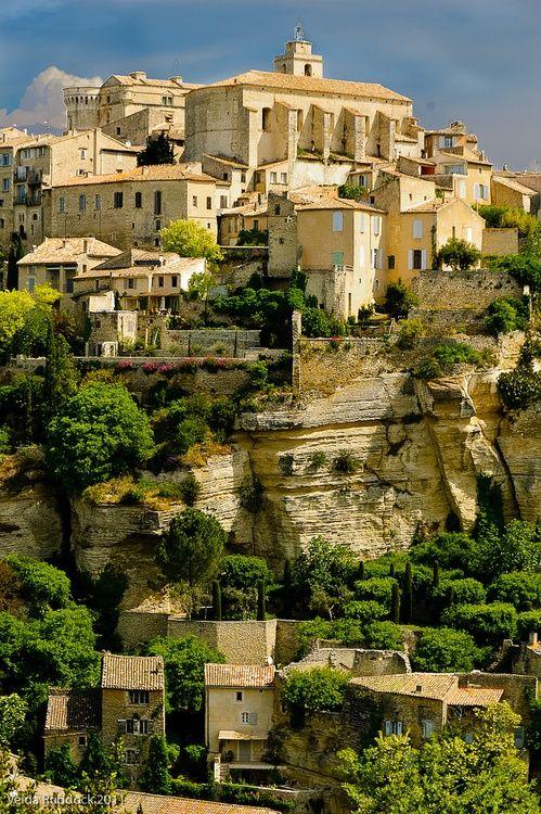 """Just East of Avignon, the beautiful village of Gordes, France. """"Douce France, cher pays de mon enfance..."""""""