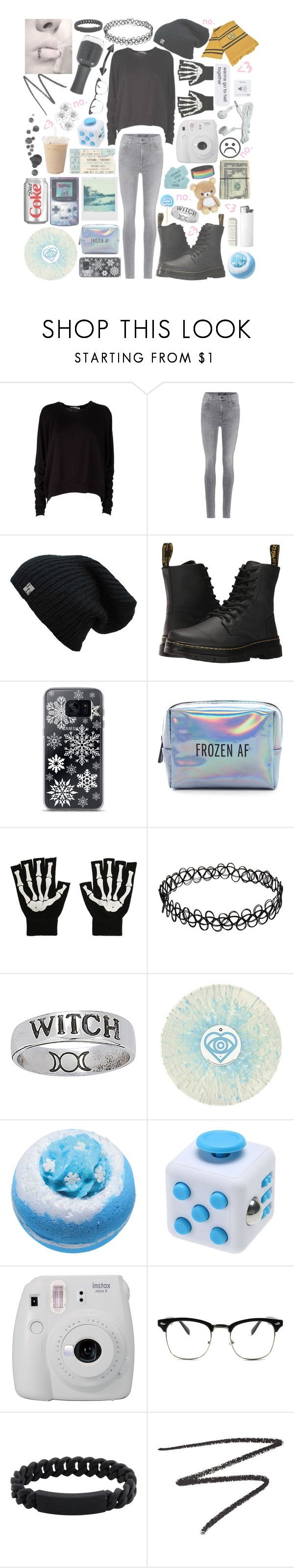 """""""w i n t e r (grunge)"""" by madmaxx01 ❤ liked on Polyvore featuring T By Alexander Wang, J Brand, Dr. Martens, Samsung, Pinch Provisions, Hot Topic, Bomb Cosmetics, Fujifilm, Marc by Marc Jacobs and Surratt"""