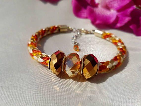 ladies bracelet, kumihimo beaded bracelet, handmade bracelet, fashion bracelet, ladies jewellery, gift for her, festival jewelry, kumihimo