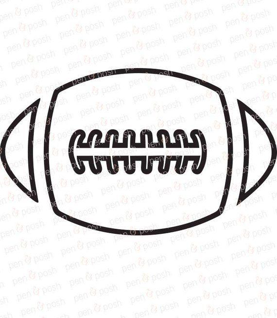 Football Svg Football Outline Svg Sports Svg Monogram Football Outline Sports Svg Football