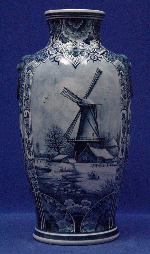 RP: Large Delft Vase Fine Quality Blue