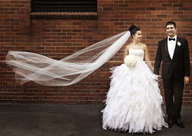 Such a stunning photo, and the dress is amazing!! Darb Bridal Couture wedding dress. Photo by Kwintowski Photography. Brisbane Bride. Love!