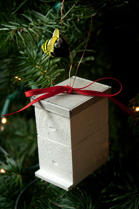 Handmade Langstroth Style Beehive Ornament If You Are A Beekeeper Or Know One