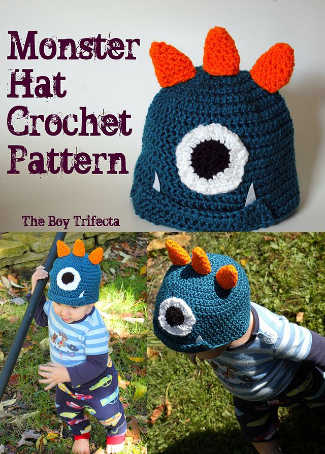 Monster crochet hat pattern FREE