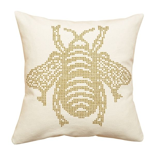 The Bee Printed Cross Stitch Cushion Kit | What Delilah Did