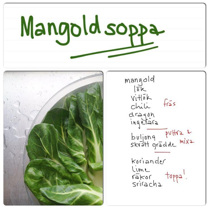 soppa på mangold med vad-som-finns-hemma | Uplifting – allt om god mat – recept, tips, restauranger, dryck