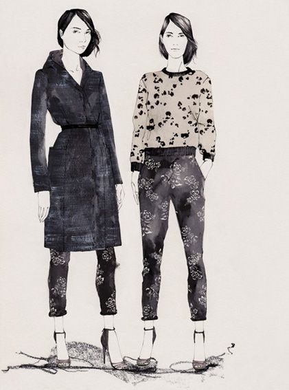 Rebecca Taylor fashion illustrations...must learn to draw