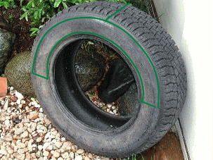 プランター/古タイヤを利用した素敵な変わりプランター