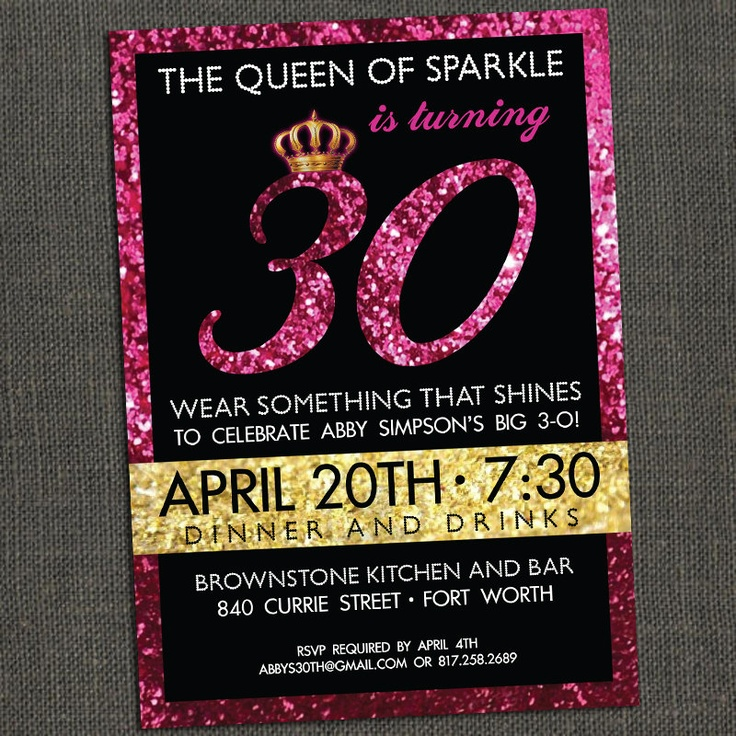 SPARKLE Birthday Party Circles/Cupcake by michelepurnerdesigns. $5.00 USD, via Etsy. - Absolutely LOVE these invitations if I were to have a 30th Birthday Party