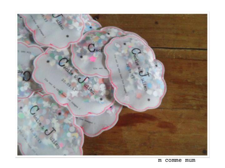 pochette à confetti forme nuage