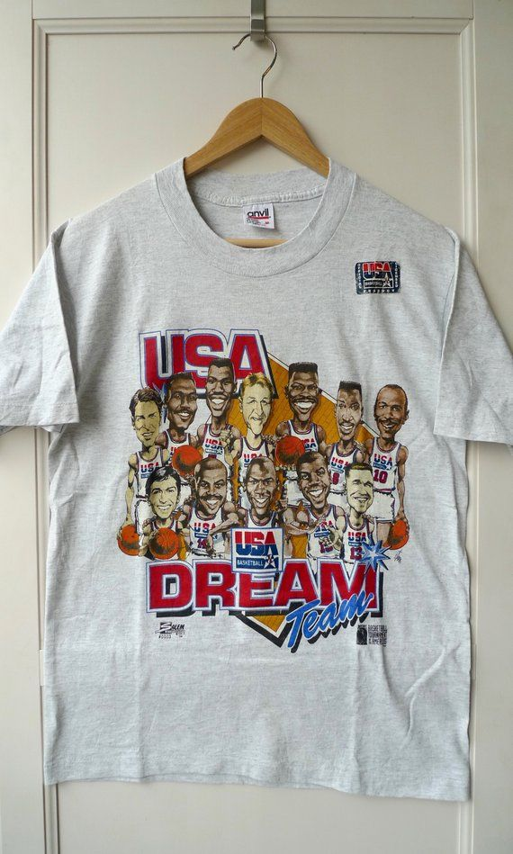 c2fcadb09c9ee Vintage NOS Rare 1992 USA Dreamteam Barcelona Olympic Basketball ...