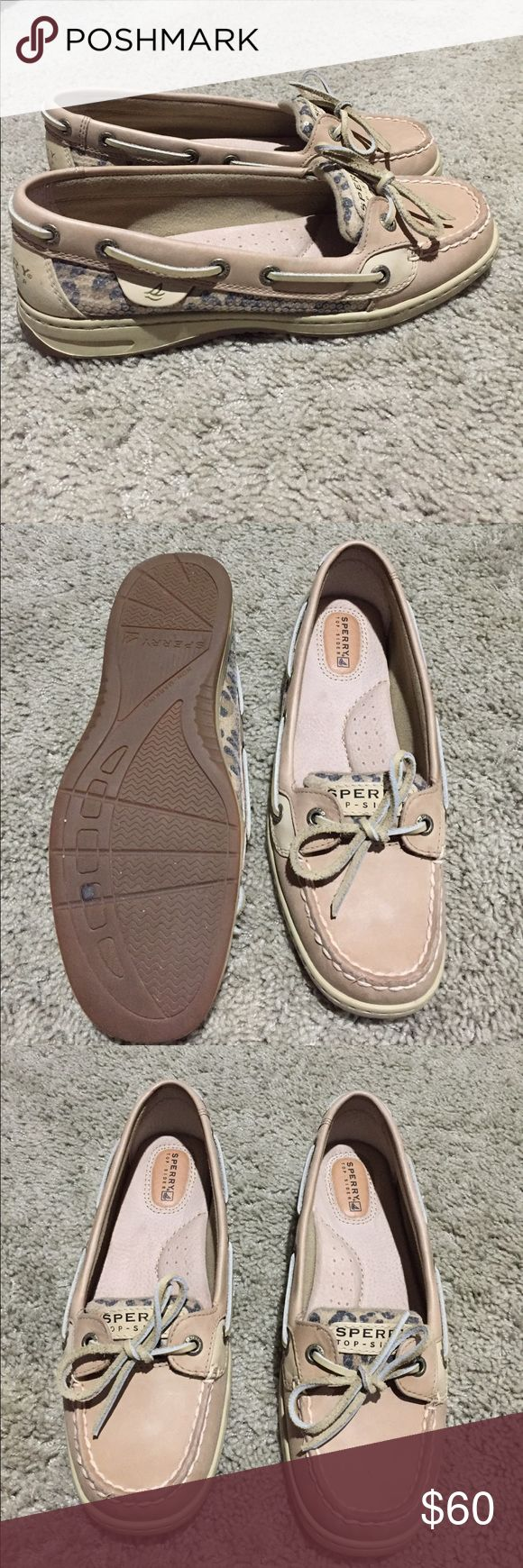Sperry Angelfish Linen/Leopard Sequin Brand New. Never worn. Original box. Sperry Shoes Flats & Loafers