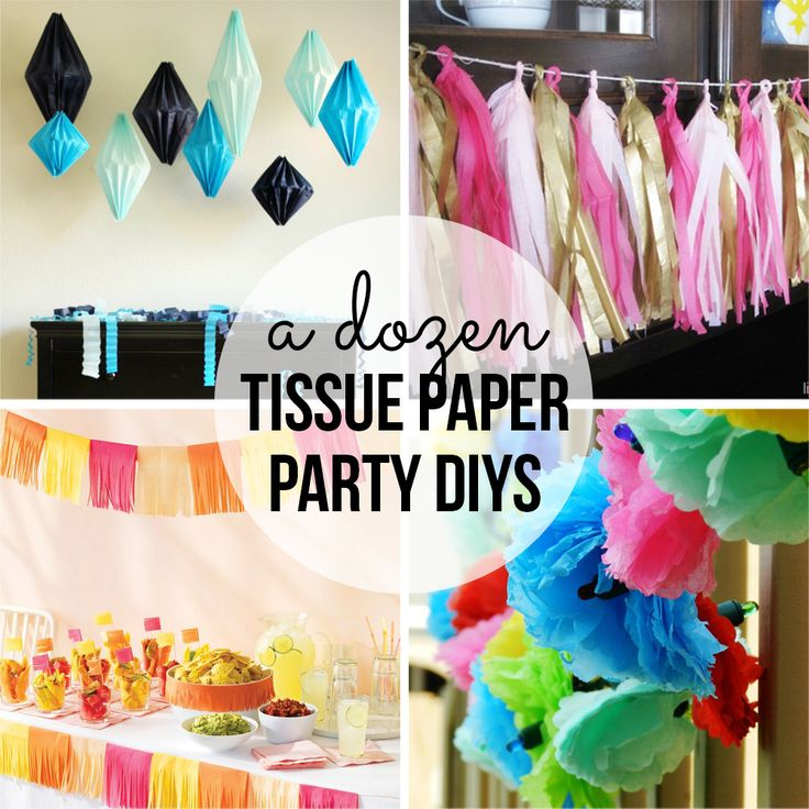 Tissue Paper Party DIY's - Party Contributor - Organize and Decorate Everything
