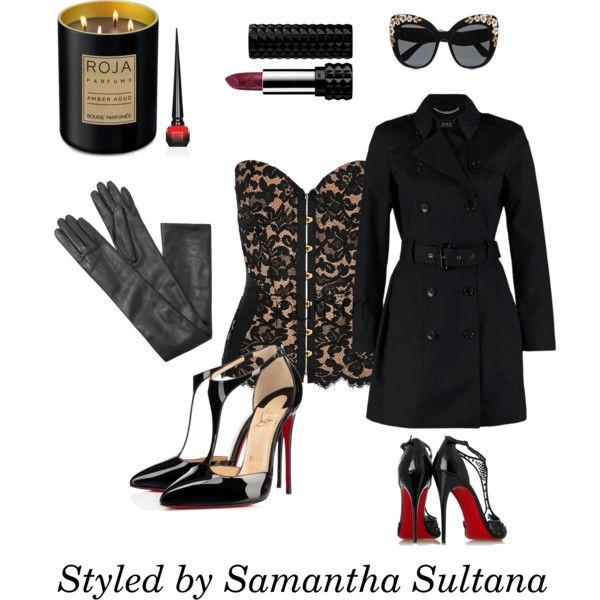 Purrr by samanthasultana on Polyvore featuring polyvore fashion style Agent Provocateur Christian Louboutin Lanvin Dolce&Gabbana Kat Von D Roja Parfums