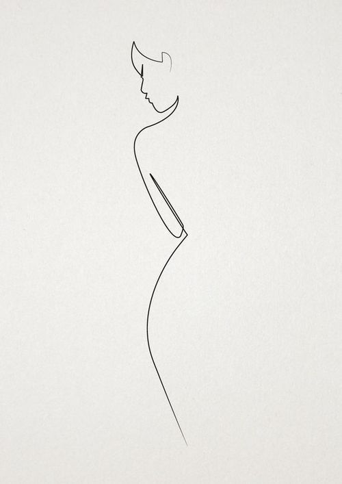drawing / Art / Lines / woman