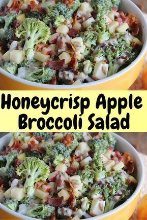 Honeycrisp Apple & Broccoli Salad | Hope And Lucky #Veganrecipes #vegan #recipes…