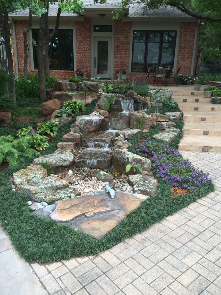 Pondless Waterfalls for the Oklahoma Landscape | Pond ... on Small Backyard Pond With Waterfall id=97496