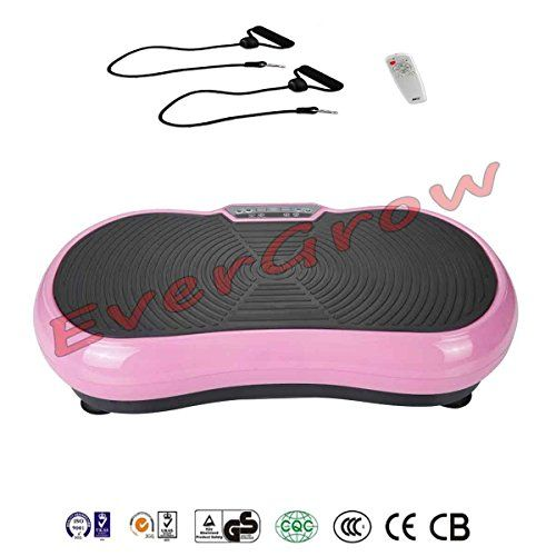Pink Whole Body Vibration Platform Plate Aerobic Fitness Fat Burning Healthful Machine Workout Trainer For Hips muscle strength cellulite treatment  resistance bands  Remote Control -- You can get additional details at the image link.