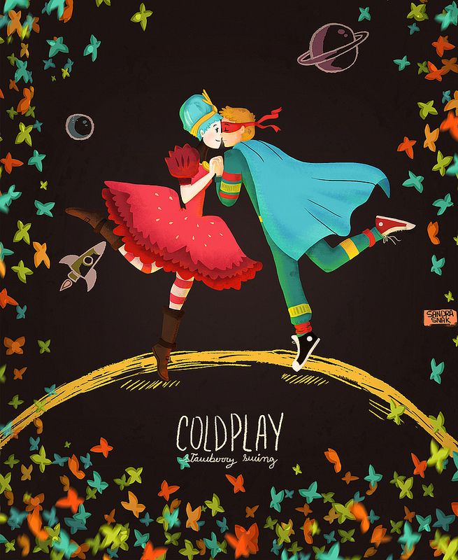 Coldplay - Strawberry Swing | by https://www.sandrasnak.tumblr.com