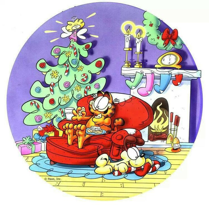 1000 images about purely garfield on pinterest mondays - Garfield noel ...