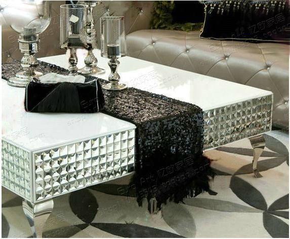 Ricordando il Americano Europeo mobili Soggiorno, Mobili ένα Specchio στην Acciaio inox tavolino di Vetro Quadrato tavolini Neoclassico
